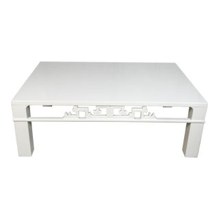 Baker Attribured Ming Style Lacquered Coffee Table