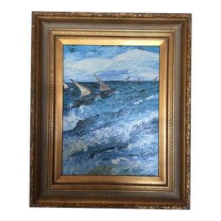 Impressionist Oil Painting - Sailboat