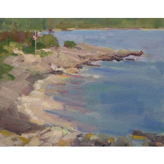 Maine Flagpole Painting