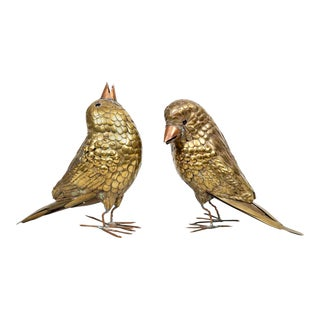 Pair of Brass Birds by Sergio Bustamante