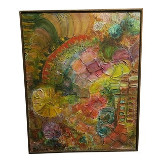 Alderson Floral Abstraction Textural Painting