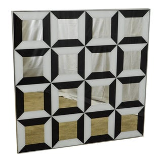 Mid Century Modern Repeating Square Wall Art Mirror by Turner Mfg