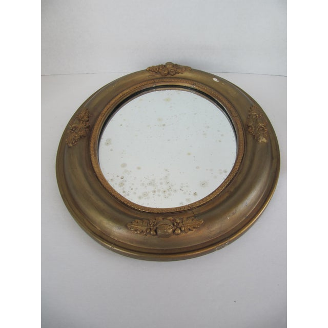 Vintage Fruit & Flower Accent Gold Mirror - Image 9 of 10