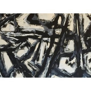 B&W Abstract Painting by Bryan Boomershine