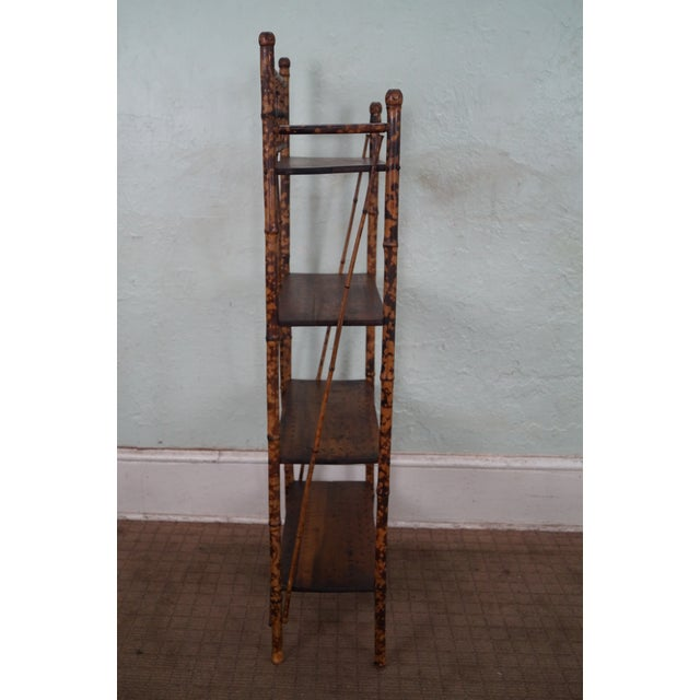 Antique 19th Century Bamboo Frame Open Bookcase - Image 3 of 5
