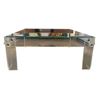 Vintage Lucite & Glass Coffee Table