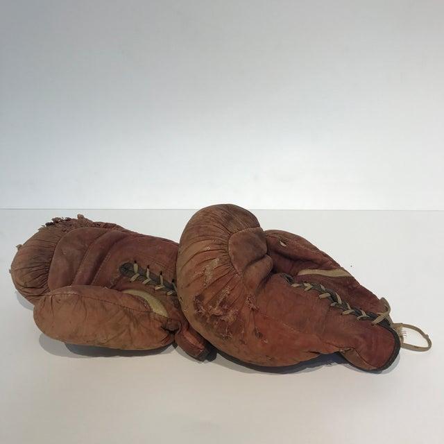 Vintage Leather Boxing Gloves - Image 5 of 5