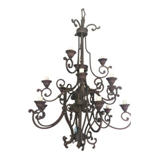 Wrought Iron 900w Chandelier