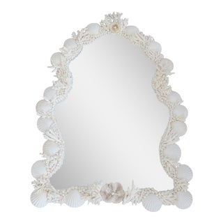 Natural Shell & Coral Mirror