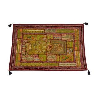 Yellow Tasseled Jaislmer Tapestry