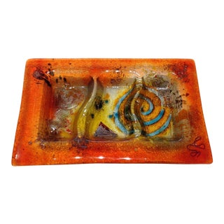 Fused Glass Art Dish