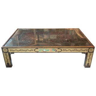 Chinoiserie Style Polychrome Decorated Coffee Table