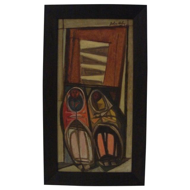 """John Haley """"Navajos at Gallup"""" 1947 Painting - Image 1 of 7"""