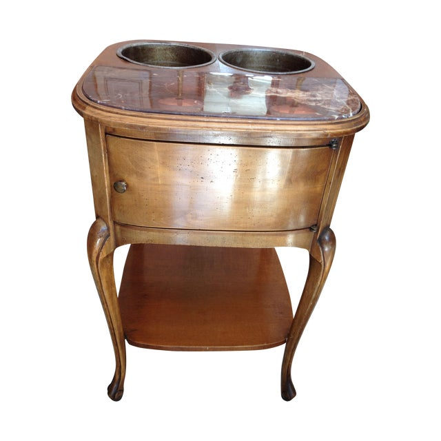French Louis XV Style Walnut Wine Table #639 - Image 1 of 10