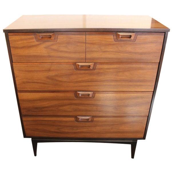 mid century modern four drawer chest chairish. Black Bedroom Furniture Sets. Home Design Ideas