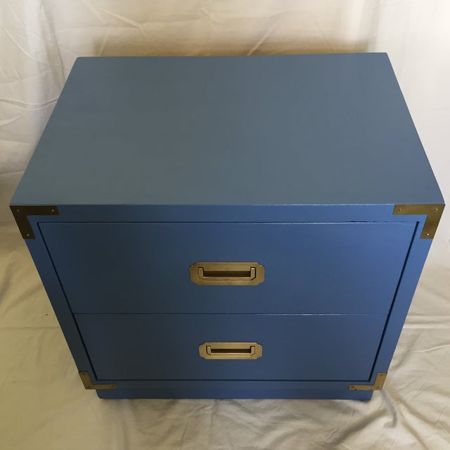 Blue Campaign Style Nightstand - Image 3 of 5