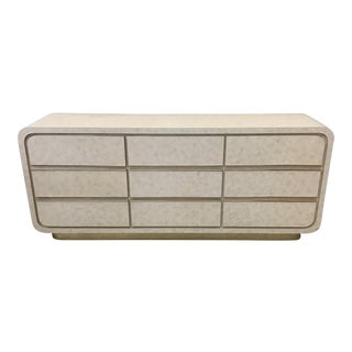 Modern Laminate & Brass Trim Dresser