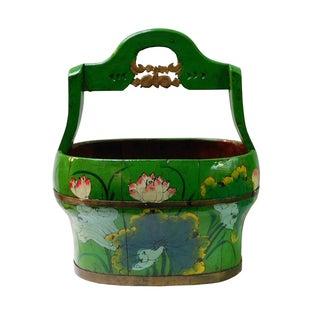Green Wooden Water Bucket