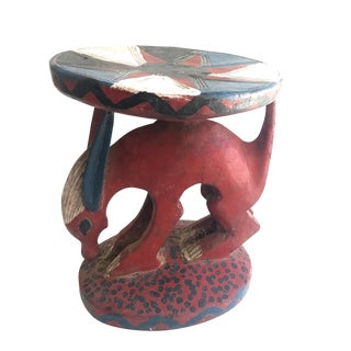 African Stool Plant Stand Mali