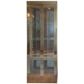 Mid-Century Modern Mastercraft Brass, Glass and Mirror Cabinet