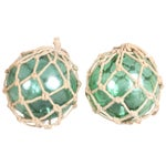 Image of 1920s Fishing Net Floats - a Pair