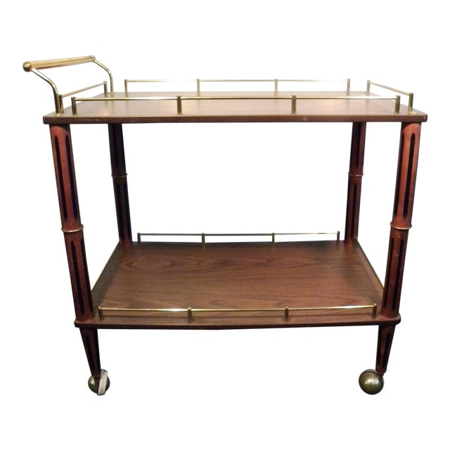 Mid Century Bar Cart or Tea Cart - Image 1 of 7