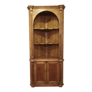 19th Century English Country Pine Corner Cupboard