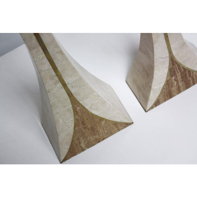 Pair of Maitland Smith Tessellated Stone Candlesticks - Image 8 of 8