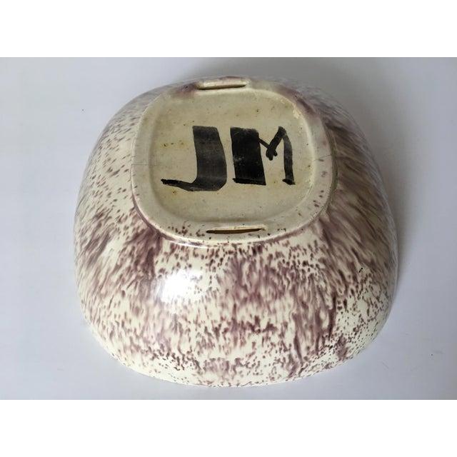 Purple & Oatmeal Danish Modern Bowl - Image 4 of 4