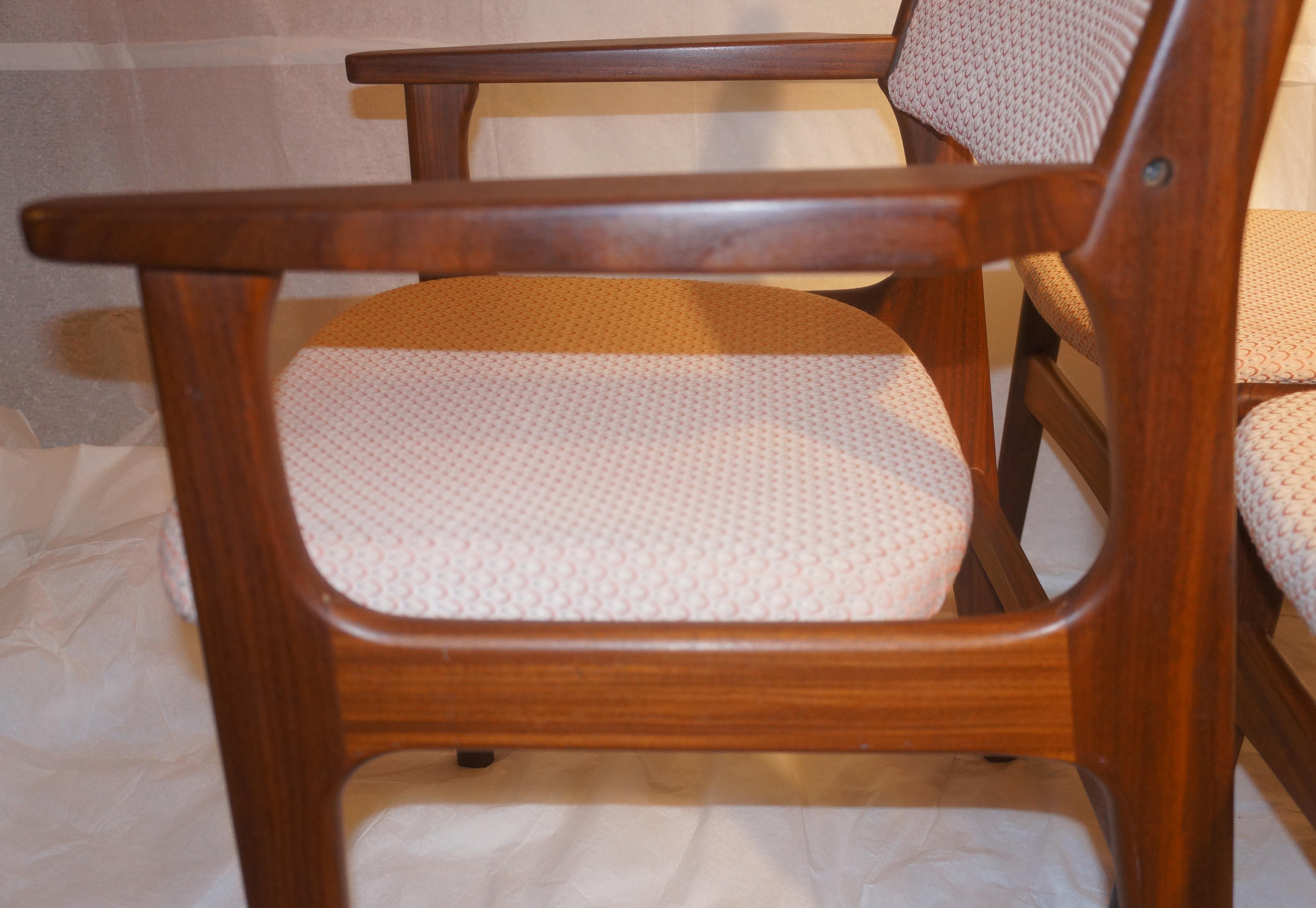 midcentury danish modern rosewood dining chairs set of 4 image 4 of