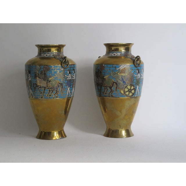 Egyptian Revival Urns - A Pair - Image 4 of 9