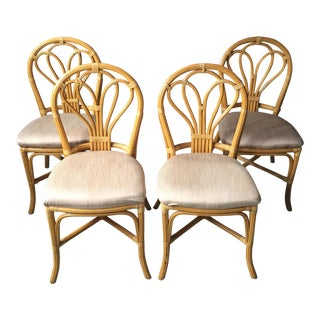 Vintage Rattan Cafe Chairs - Set of 4
