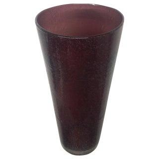 Mid-Century Purple Murano Pulegoso Vase