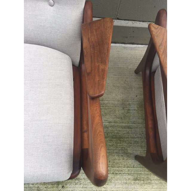 Adrian Pearsall Sculptural Lounge Chairs - Pair - Image 4 of 8