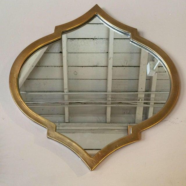 Gold Quatrefoil Metal Mirror - Image 3 of 6