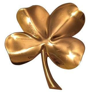 Brass Clover Paperweight