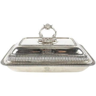1815 George III Thomas Robins Sterling Silver Covered Vegetable Dish