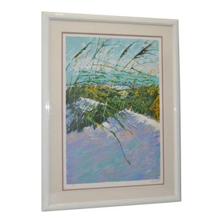 C.1990 Aldo Luongo Windy Beach II Serigraph