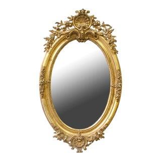 Late 19th Century Louis XVI-style Giltwood Mirror