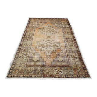 Vintage Bohemian Faded Turkish Rug - 4′7″ × 7′6″