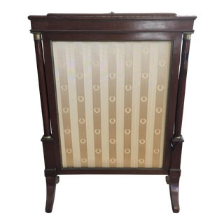 Antique French Empire Mahogany Fire Screen