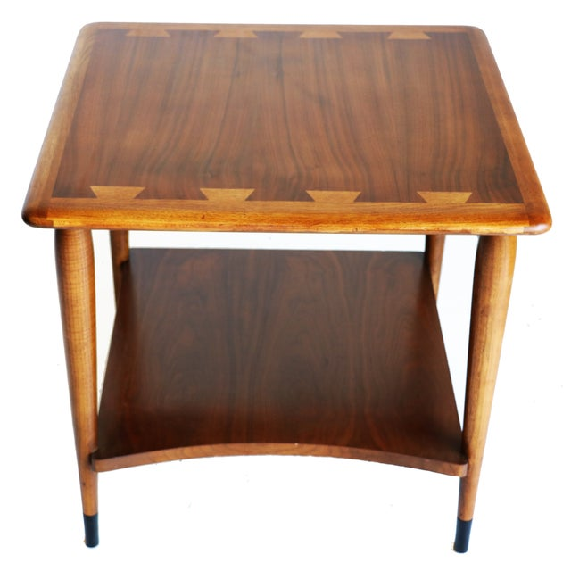1950s Mid Century End Table By Lane Furniture: Mid Century Lane Side Table