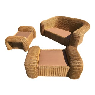 Modern Wicker Sofa Set
