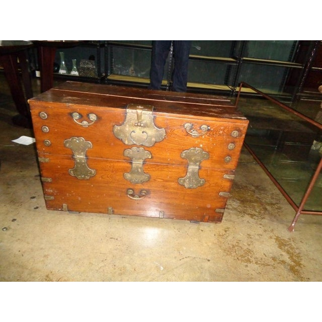 Antique Asian Drop Front Chest - Image 4 of 8