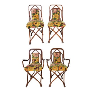 Antique Gebruder Thonet Bentwood Chairs - Set of 4