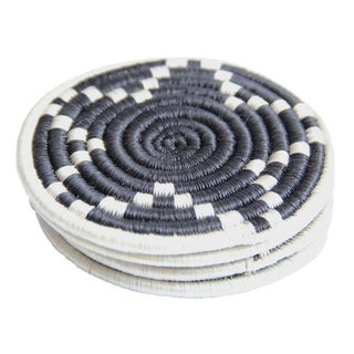 Handwoven Coasters From Rwanda - Set of 4