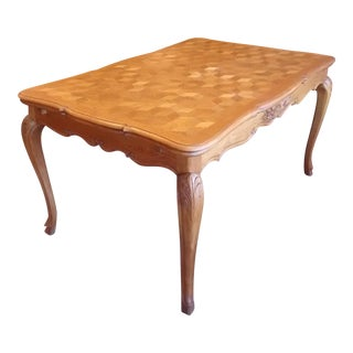 Louis XV Style Parquet Top TableVintage   Used French Country Dining Tables   Chairish. French Country Dining Tables. Home Design Ideas