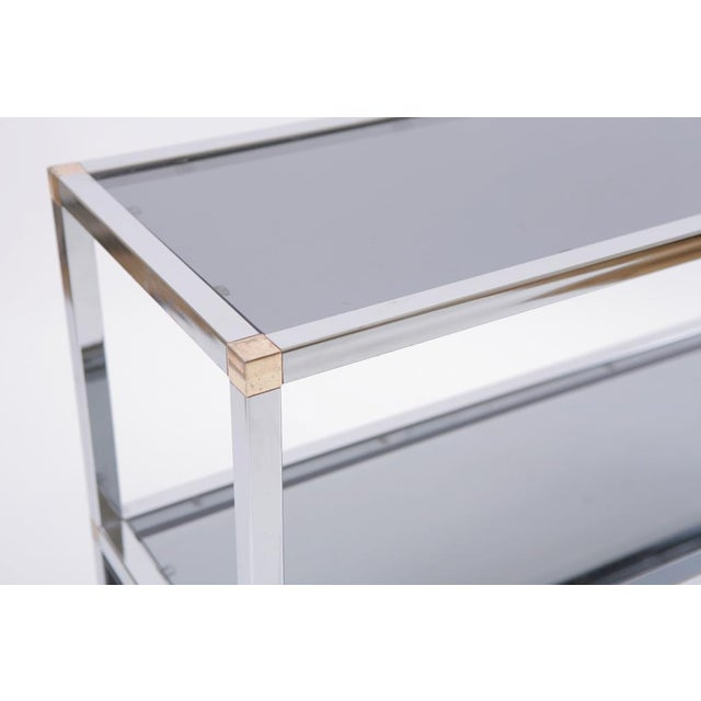 Image of Perfect Vintage Chrome Vitrine or Console