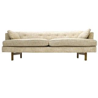 Sleek Low-Profile Edward Wormley for Dunbar Tweed Sofa