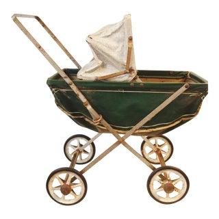 Vintage Doll Toy Baby Stroller Pram